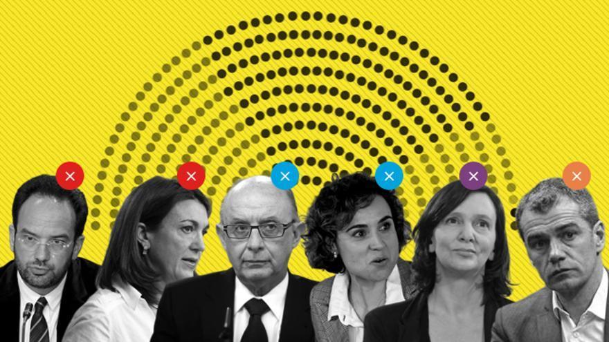 Hernando, Rodríguez, Montoro, Montserrat, Bescansa y Cantó no repiten por diferentes motivos