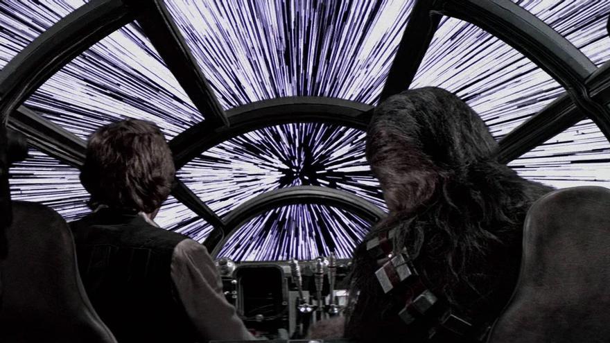 Han y Chewie a punto de empezar 2015