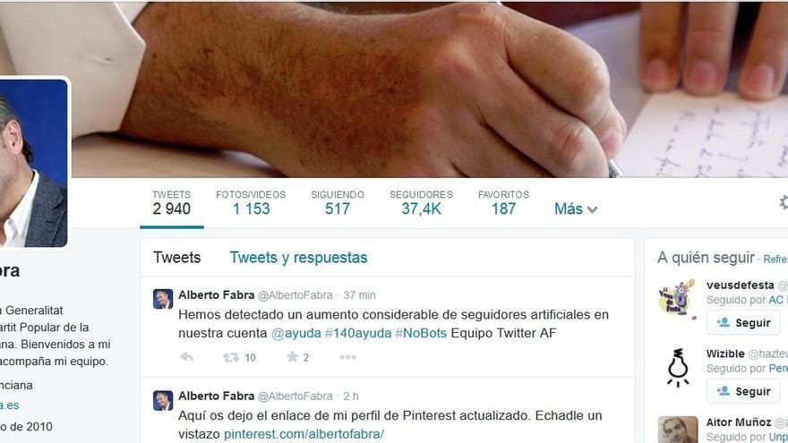 La cuenta de Twitter del president de la Generalitat ha visto cómo aumentaba en 20.000 su número de seguidores
