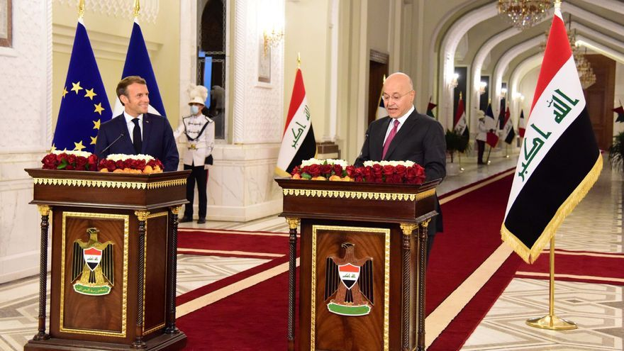 Macron llega a Bagdad en su primera visita oficial a Irak