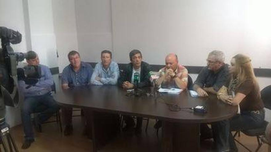 Rueda de prensa de los miembros de la extinta Ejecutiva regional de CCOO-Canarias.