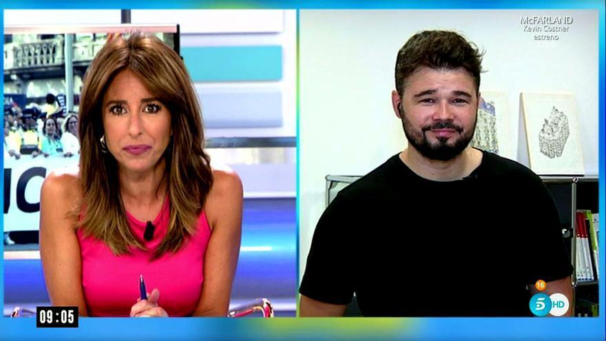 La discusión de Rufián con Ana Terradillos, sustituta política de AR en Telecinco