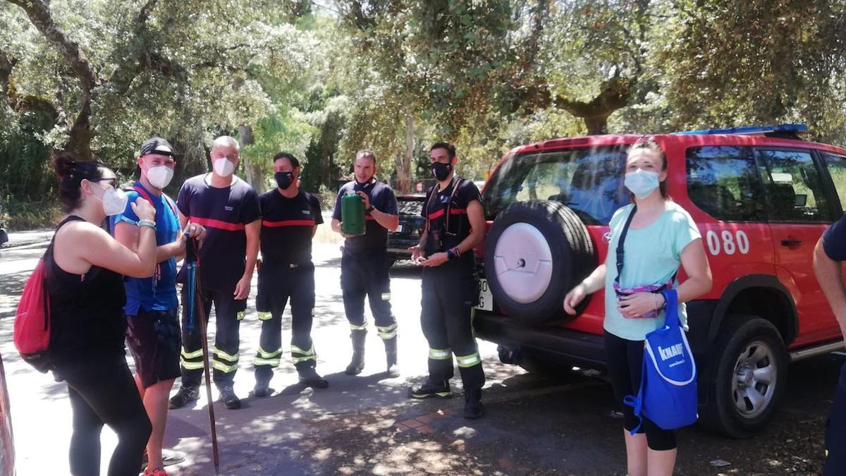 Los bomberos en Trassierra