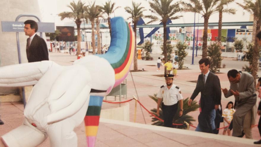 Pilar Pinazo hizo de Curro en la Expo 92