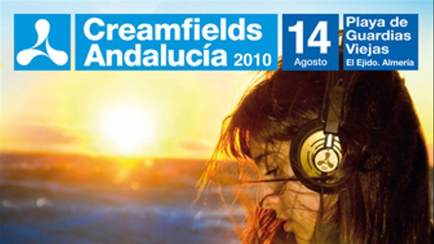Cartel del Creamfields Andalucía 2010