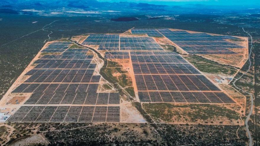 Maqueta del proyecto fotovoltaico de Iberdrola