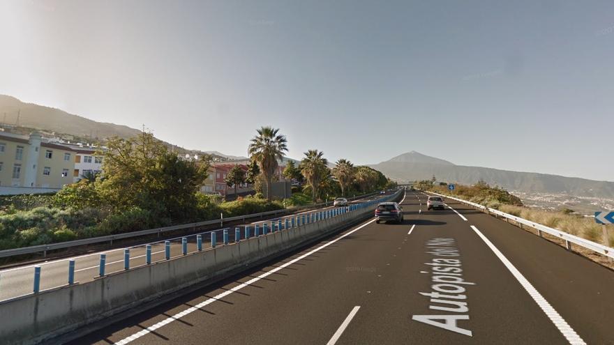 Autopista TF-5, a la altura de Santa Úrsula