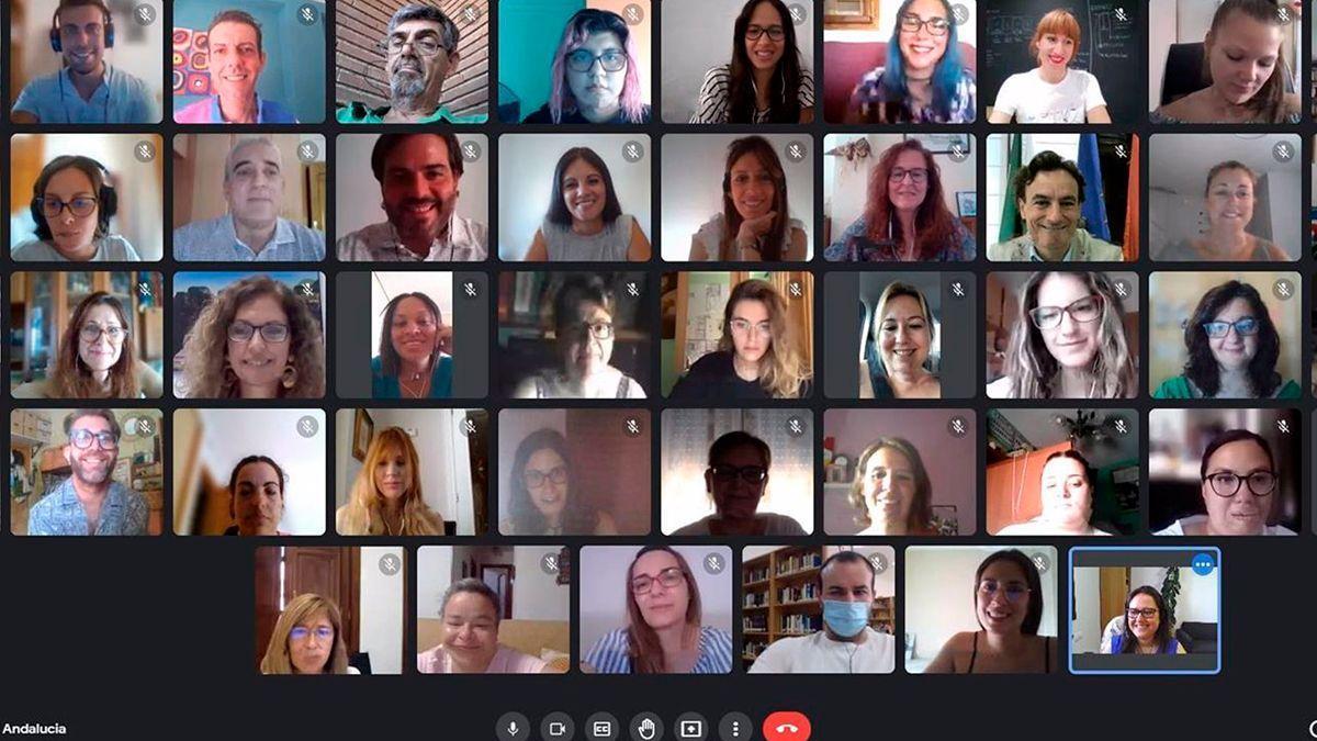 Participantes en la lanzadera de empleo de Lucena.