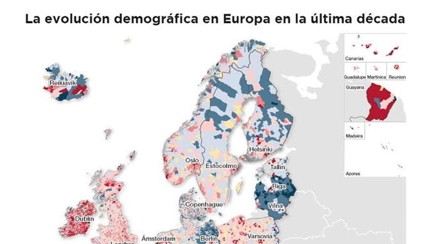 Mapa despoblación UE