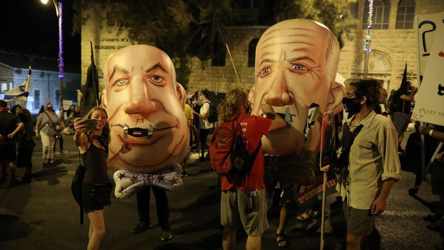 Continúan las manifestaciones que piden la dimisión de Netanyahu