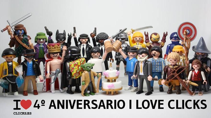 I love 4º aniversario I love clicks