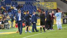 Setién durante el encuentro entre la UD Las Palmas y el Celta de Vigo en el Estadio de Gran Canaria.