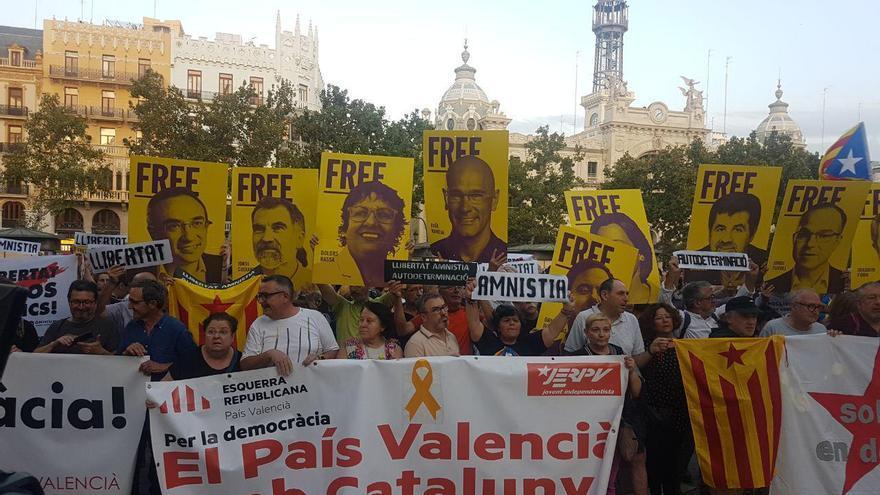 Protesta en Valencia contra la sentencia del 'procés'
