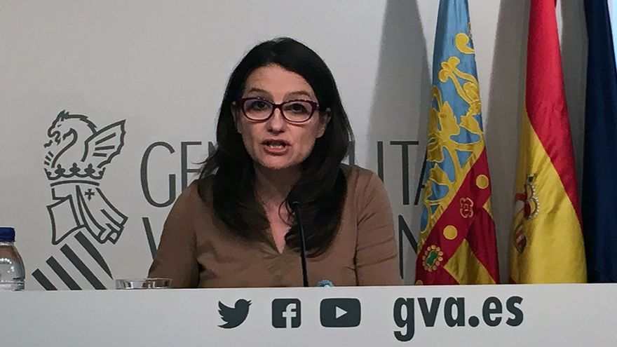 La vicepresidenta del Consell, Mónica Oltra, informa de los temas tratados en el pleno del Consell