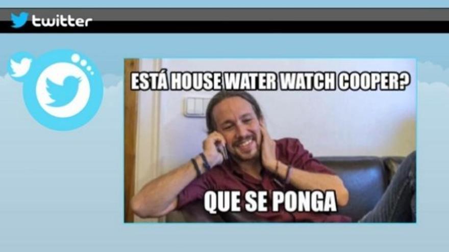 """Gazapo viral de Iglesias en el debate y hasta una web: """"House Water Watch Cooper"""""""