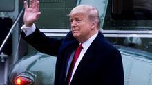 Trump se asoma con aire triunfal al final de su juicio político