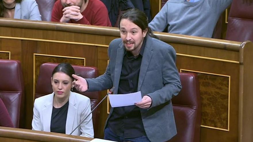 Pablo Iglesias, en la sesión de control al Gobierno