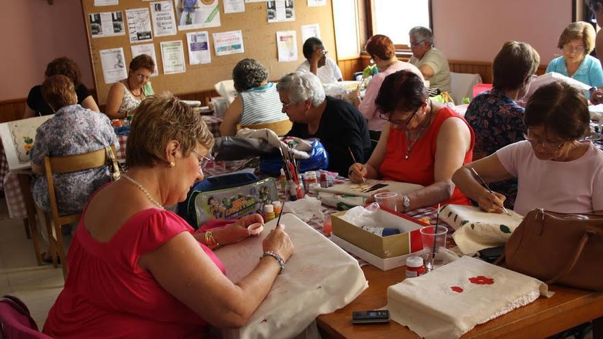 Imagen de archivo de un taller en el Centro de Día de Santa Cruz de La Palma.