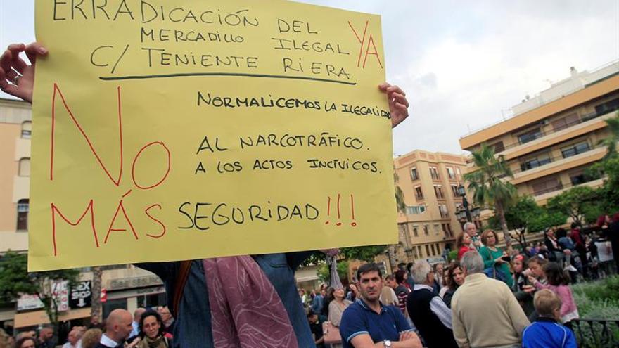 Miles de personas se manifiestan en Algeciras contra el narcotráfico
