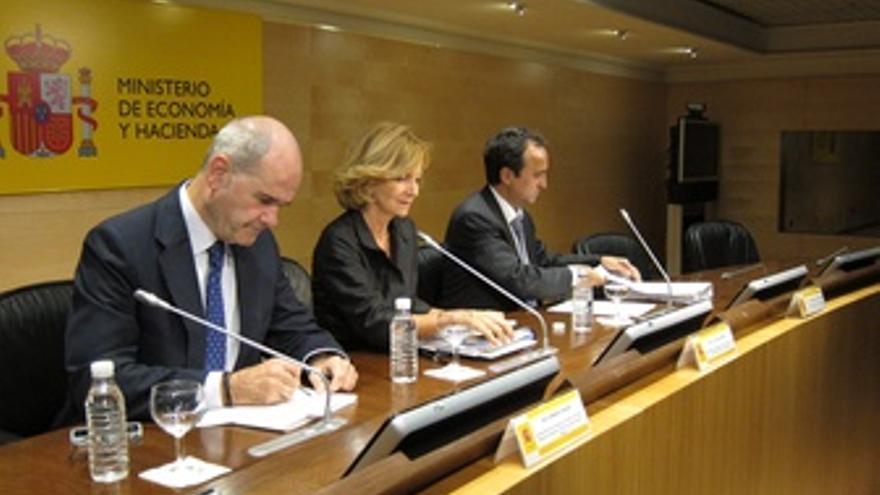 La Ministra De Economía Tras La Conferencia De Política Fiscal Y Financiera