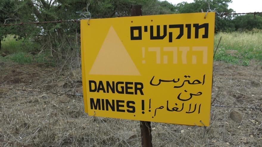 Zona de minas próxima a Majdal Shams.