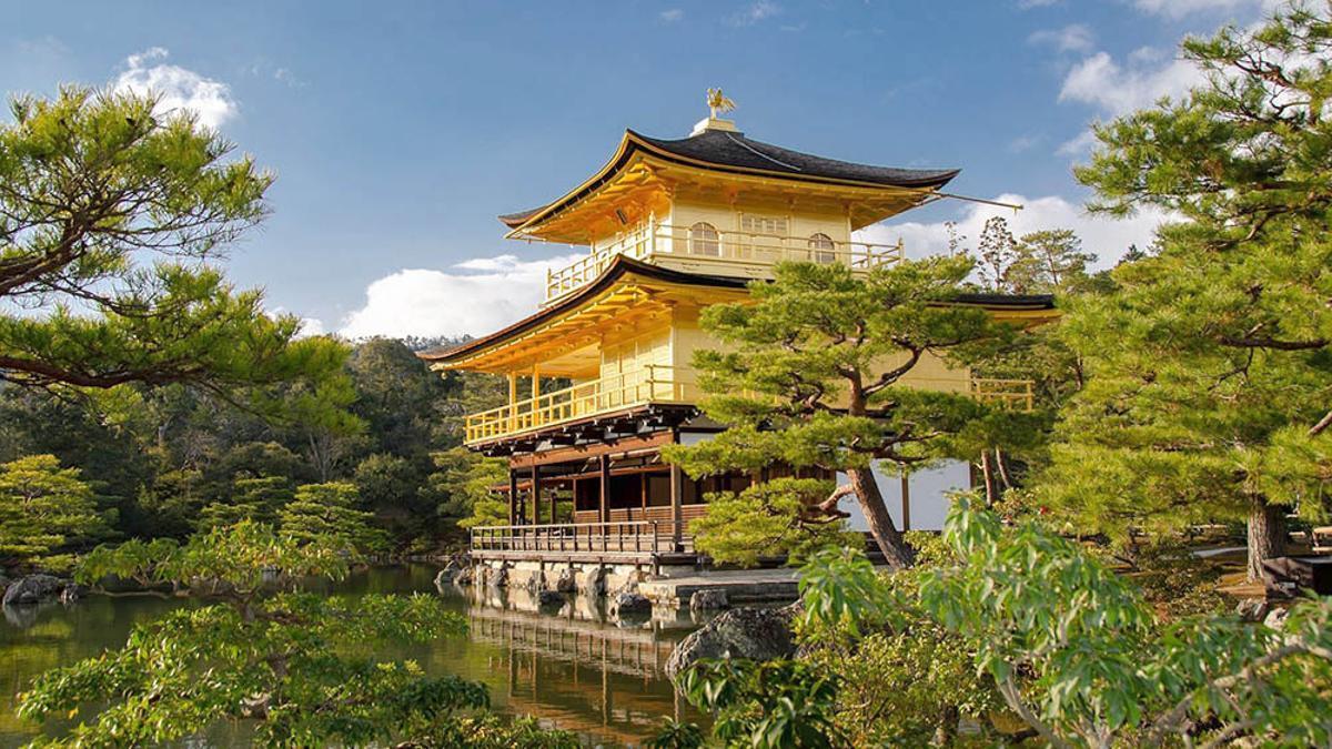 El Templo Kinkaku-ji o Pabellón Dorado