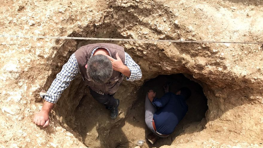 Entrada a los túneles almohades descubiertos en Cuatrovitas. | AYUNTAMIENTO DE BOLLULLOS DE LA MITACIÓN