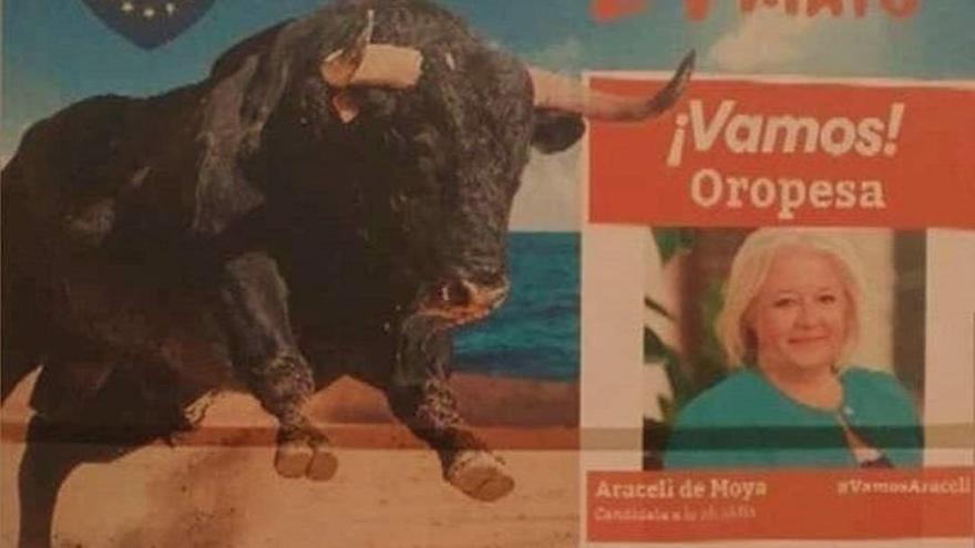 Imagen de la difusión del acto de fin de campaña de Cs en Oropesa