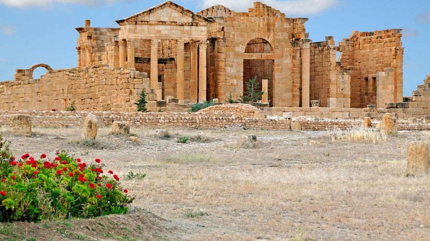 Edificios romanos en asombroso estado de conservación en Sbeïta. Dennis Jarvis