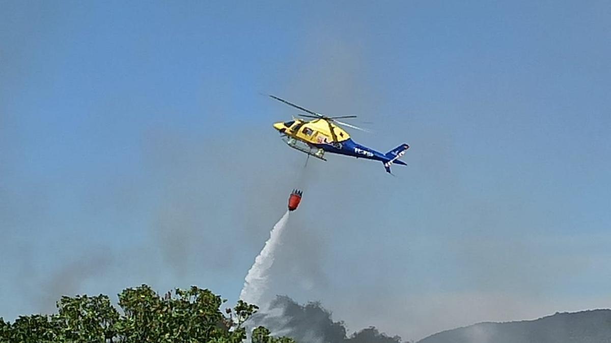 Un helicóptero del Infoca, en una imagen de archivo