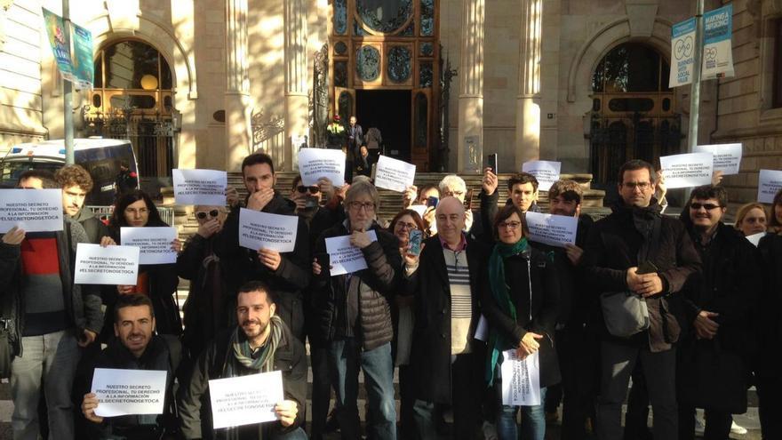 Manifestación en Barcelona ante el Tribunal Superior de Justicia de Catalunya