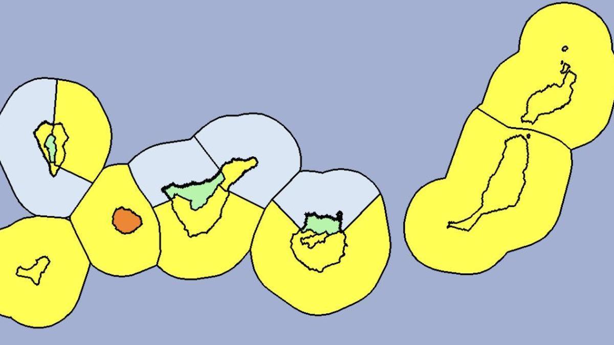 Avisos amarillos y naranjas en el Archipiélago por fuertes rachas de viento