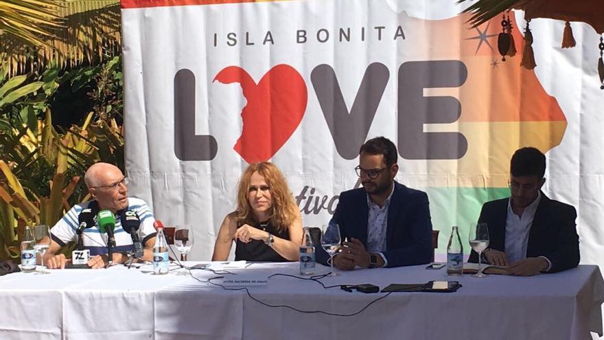 Rueda de prensa celebrada este miércoles en Tazacorte.