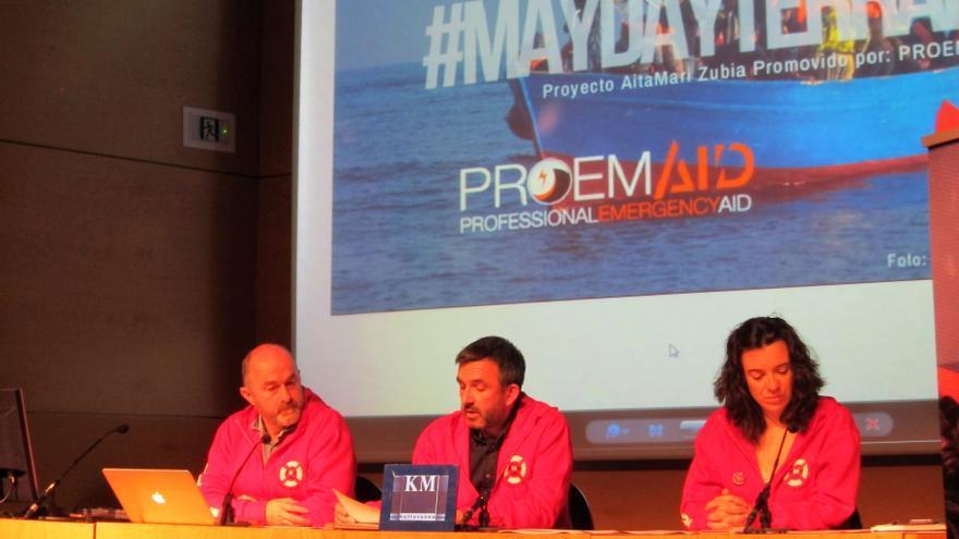 Archivo - Miembros de Salvamento Marítimo Humanitario