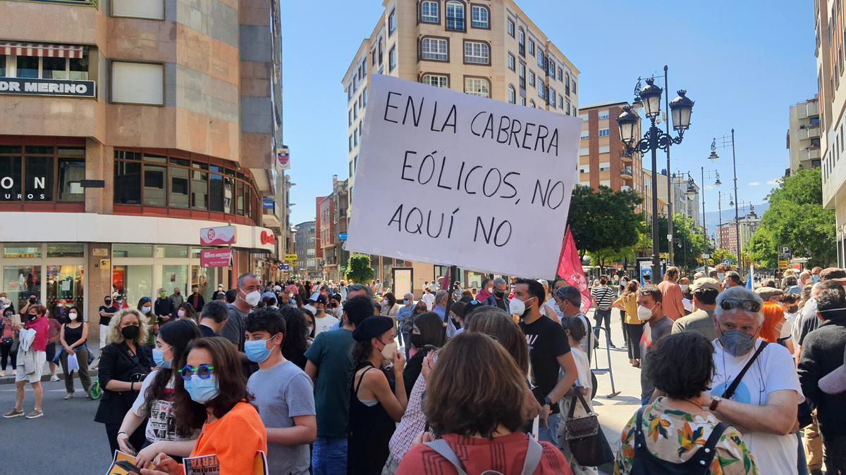 Manifestación en Ponferrada.