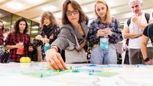 Dinámica de grupo en la cumbre 'Sharing cities' de Barcelona.
