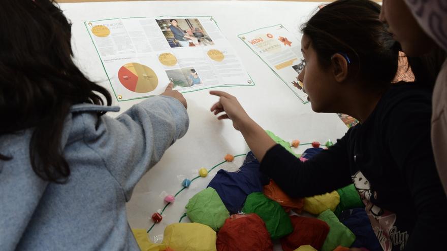 Weducole permite a los colegios participar en un proyecto solidario a través del apadrinamiento colectivo. Foto: Rocío Ovalle/AeA