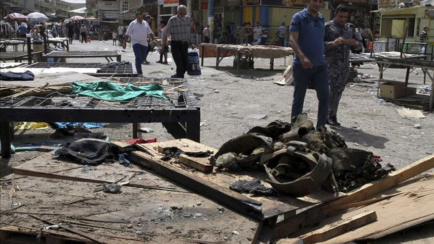 Al menos 33 muertos en un ataque suicida del EI y choques en el oeste de Irak