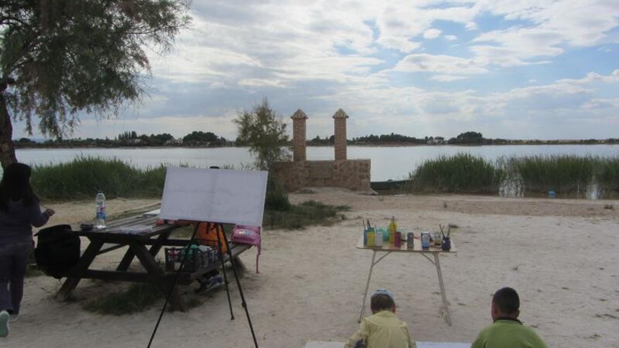 Taller de Pintura en las Lagunas de Villafranca / Foto: Sara Jimeno