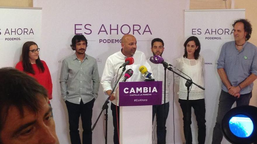 José García Molina en su comparecencia tras el escrutinio