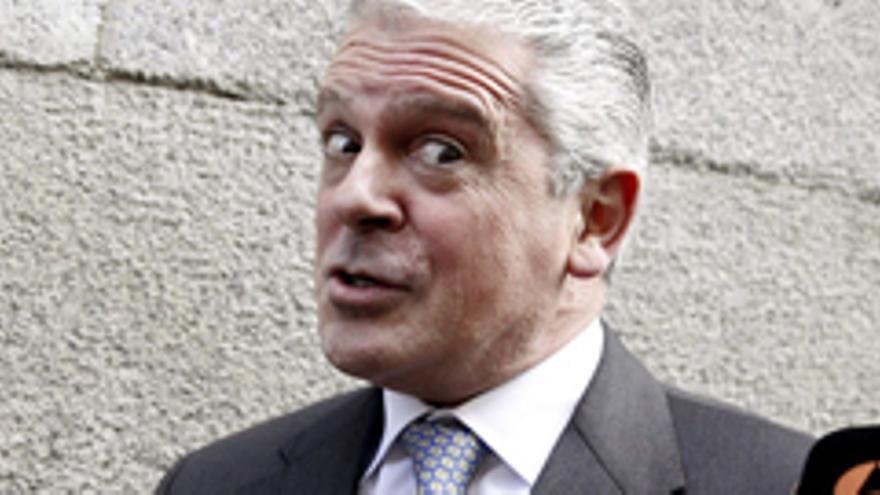 Pablo Crespo a su salida de la Audiencia nacional. EFE
