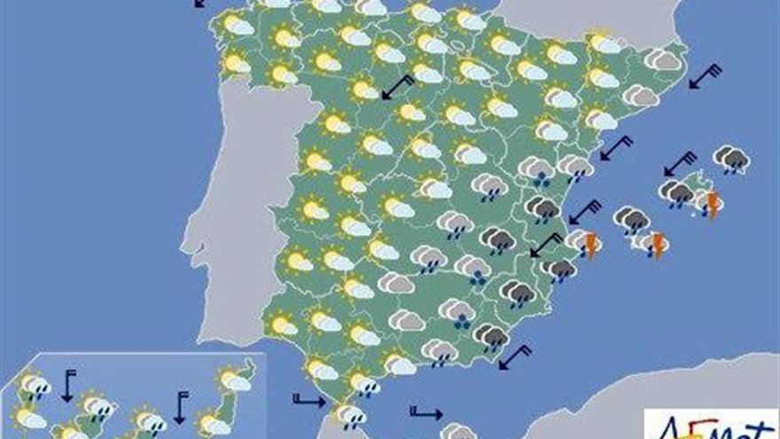 Hoy, lluvias persistentes en la Comunidad Valenciana y Baleares