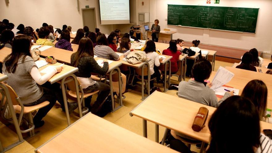 Aula en la Universidad de Alcalá de Henares