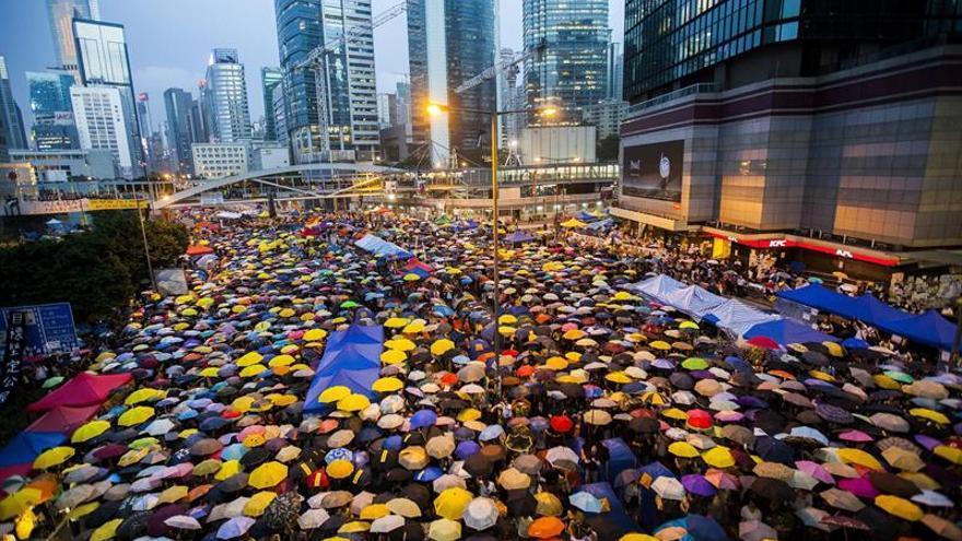 Los líderes de la Revolución de los Paraguas en Hong Kong serán procesados