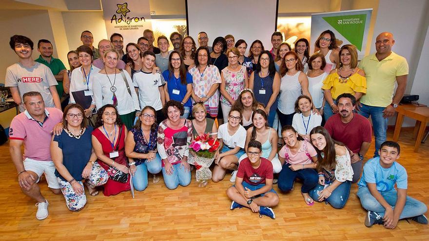 Foto grupal de la asociación Adigran. (Txefe Betancort).