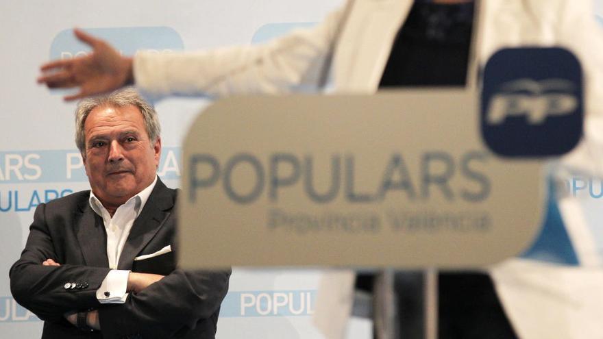 El ex presidente de la Diputación en un acto del Partido Popular en Valencia
