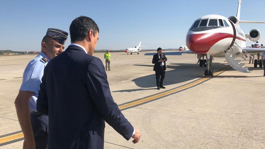 El Gobierno alega motivos de seguridad para justificar el traslado en avión de Sánchez y su Gobierno a Valladolid