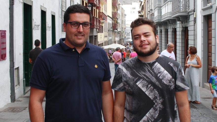 Raico Arocha (i) y Daniel Guerra.