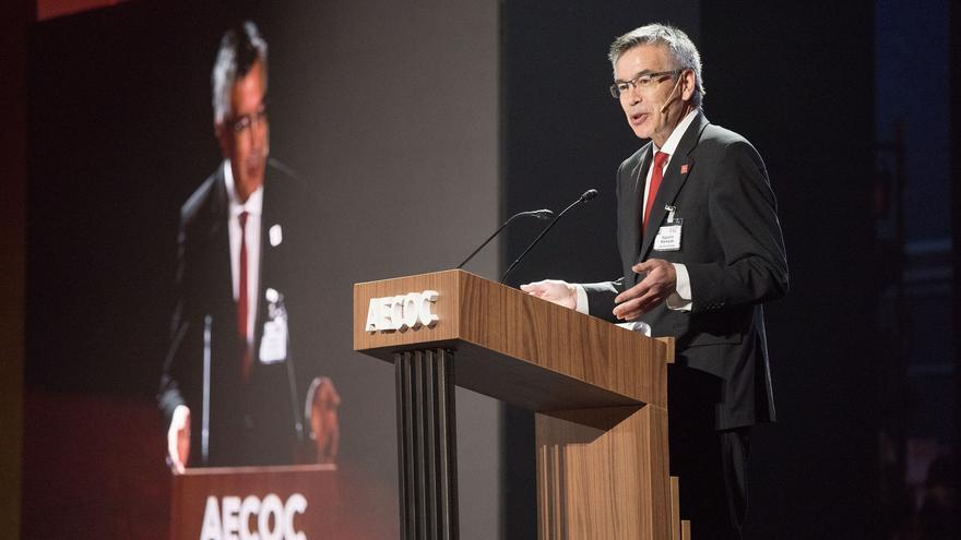 El presidente de Eroski,m Aguntín Markaide, en el Congreso de AECOC