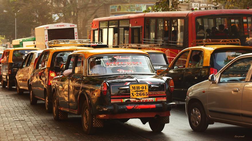 Tráfico en Mumbai.